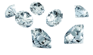 Zlato, stříbro, diamanty